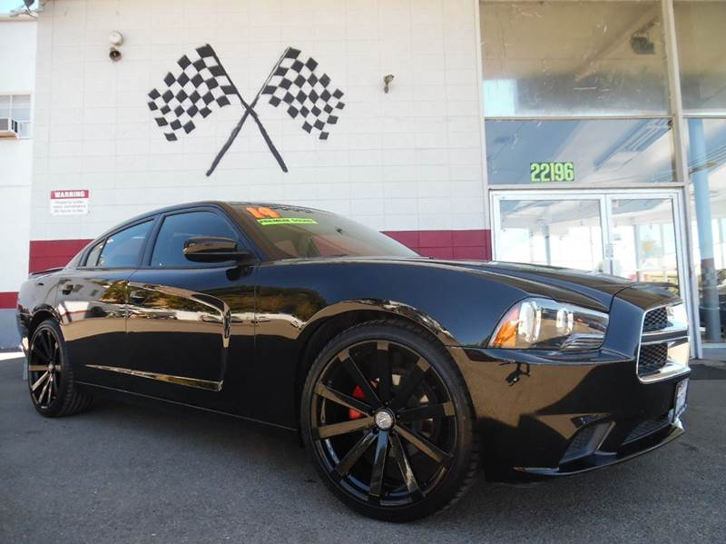 2014 DODGE CHARGER SE 4DR SEDAN black super clean dodge charger brand new 22 wheels and tires lo