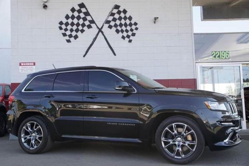 2012 JEEP GRAND CHEROKEE SRT8 4X4 4DR SUV bright silver metallic our low miles 2012 jeep grand ch