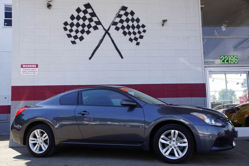 2012 NISSAN ALTIMA 25 S 2DR COUPE CVT dark slate metallic 2-stage unlocking doors abs - 4-wheel