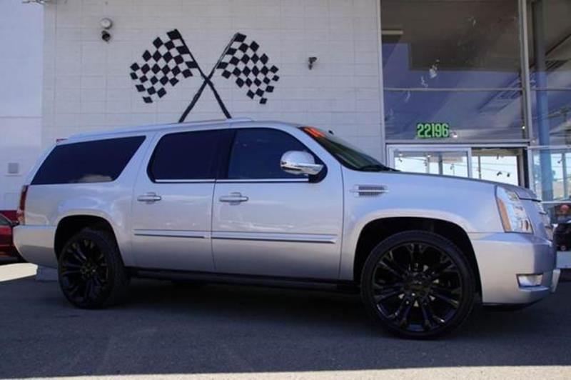2014 CADILLAC ESCALADE ESV PREMIUM 4DR SUV radiant silver metallic 2-stage unlocking doors abs -