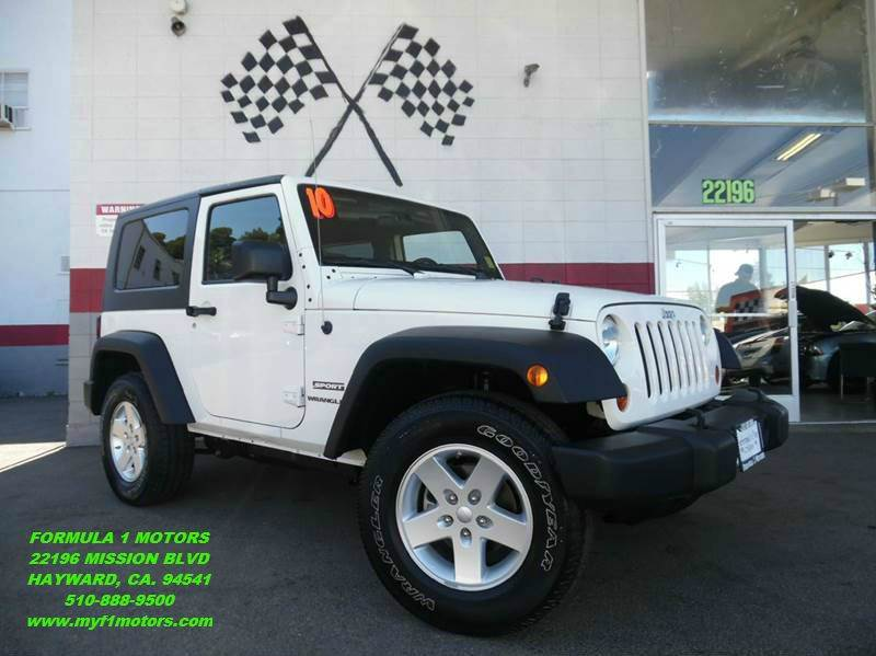 2010 JEEP WRANGLER SPORT 4X4 2DR SUV white super clean jeep wrangler nice sporty suv fun to dri