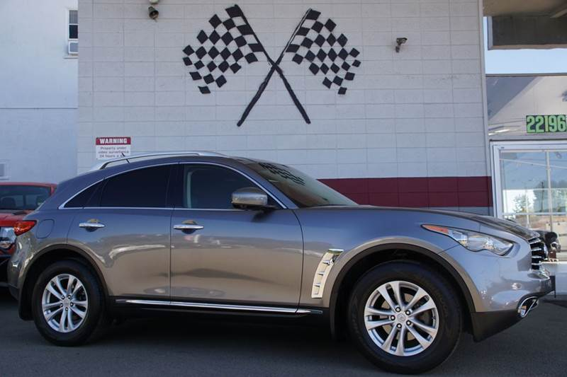 2012 INFINITI FX35 BASE 4DR SUV gray 2-stage unlocking doors abs - 4-wheel active head restrain