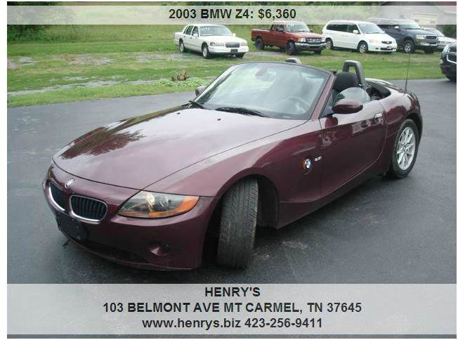 2003 BMW Z4 2.5i 2dr Roadster - Mt Carmel TN