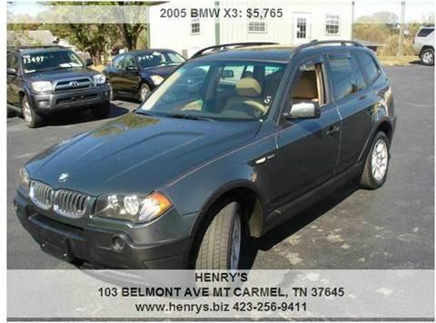 2005 BMW X3 for sale in Mt Carmel, TN