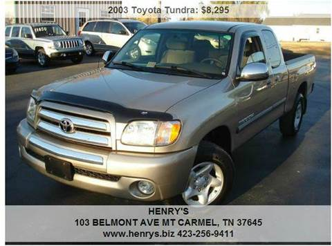 2003 Toyota Tundra for sale in Mt Carmel, TN