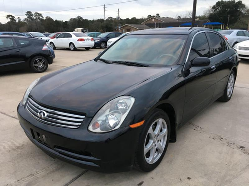 2004 infiniti g35 awd 4dr sedan w leather in houston tx. Black Bedroom Furniture Sets. Home Design Ideas