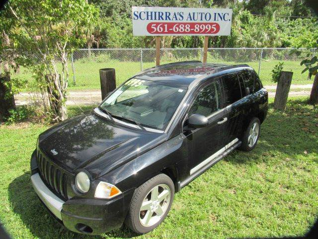 2007 JEEP COMPASS LIMITED 4X4 4DR CROSSOVER black please call schirras auto at 866-383-7643  have