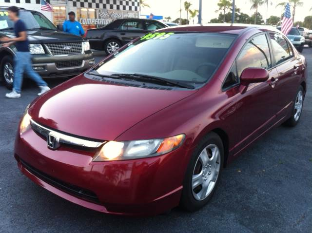 2007 HONDA CIVIC LX 4DR SEDAN red please call schirras auto at 888-865-0893  have bad credit ha