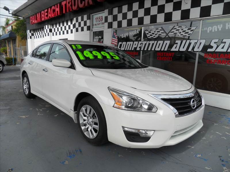2013 NISSAN ALTIMA 25 S 4DR SEDAN pearl white please call competition auto sales at 888-865-0893