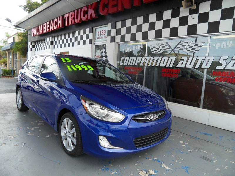 2013 HYUNDAI ACCENT SE 4DR HATCHBACK 6A blue please call competition auto sales at 888-865-0893