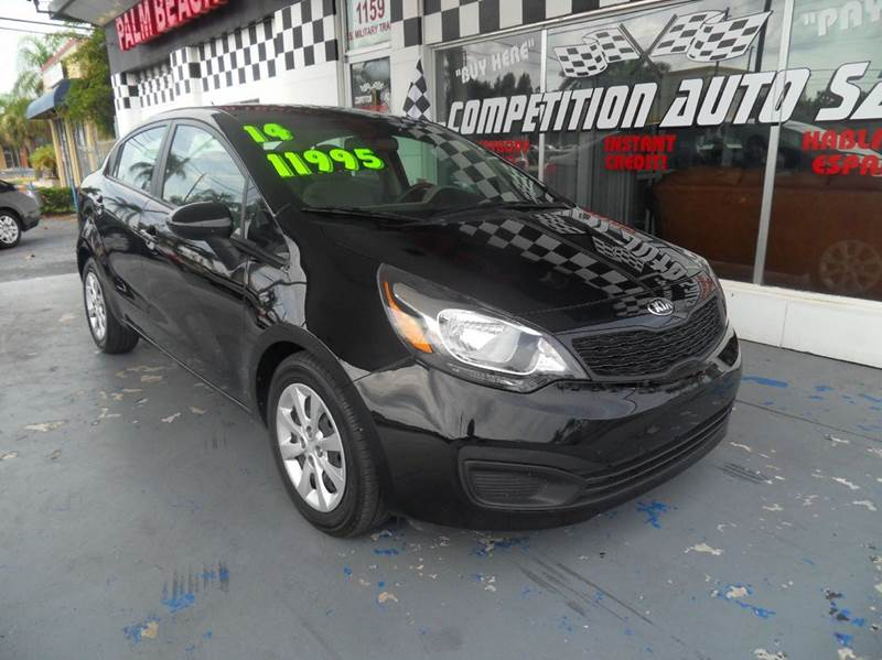 2014 KIA RIO LX 4DR SEDAN 6A black please call competition auto sales at 888-865-0893  have bad