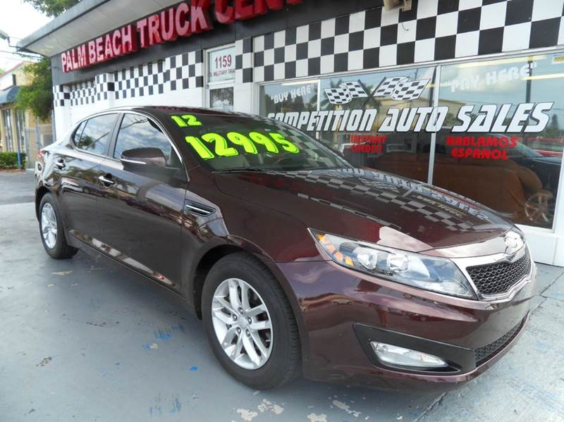 2012 KIA OPTIMA LX 4DR SEDAN 6A burgundy please call competition auto sales at 888-865-0893  have