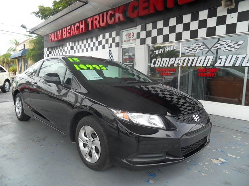 2013 HONDA CIVIC LX 2DR COUPE 5A black please call competition auto at 888-865-0893  have bad cre