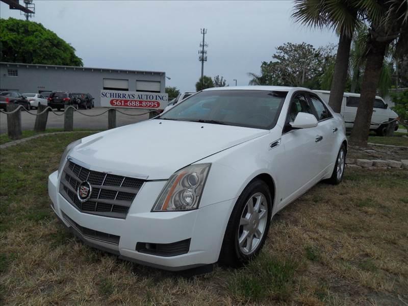 2009 CADILLAC CTS 36L V6 4DR SEDAN W AUTO pearl white please call schirras auto at 888-865-089