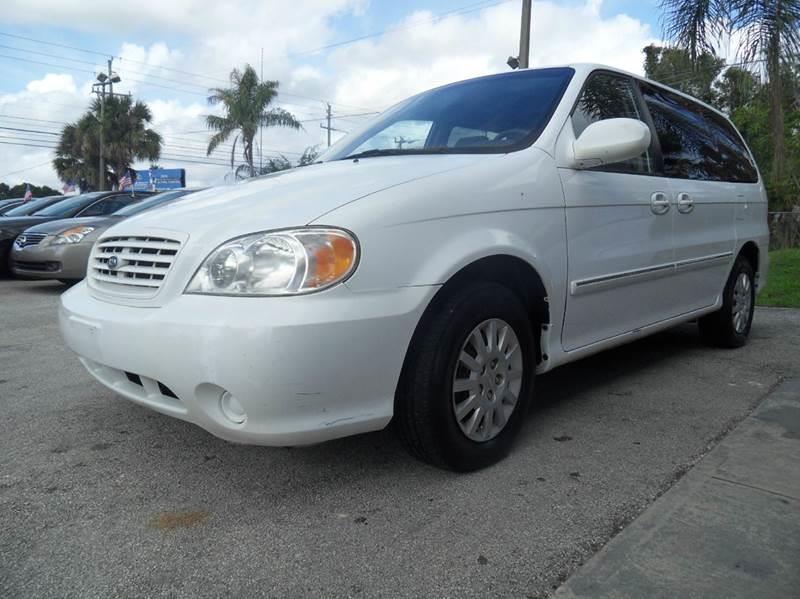 2002 KIA SEDONA LX 4DR MINI VAN white please call schirras auto ii at 888-865-0893  have bad cre