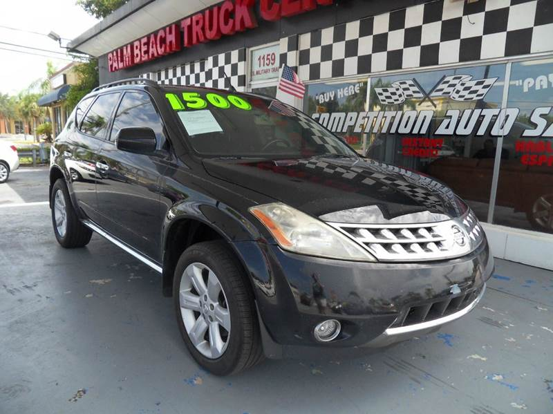 2006 NISSAN MURANO SL 4DR SUV black please call competition auto sales at 888-865-0893  have bad