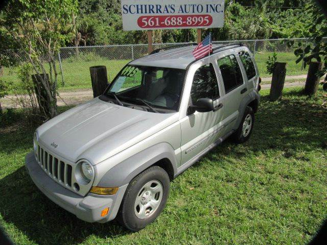 2005 JEEP LIBERTY SPORT 4DR SUV silver please call schirras auto at 866-383-7643  have bad credi