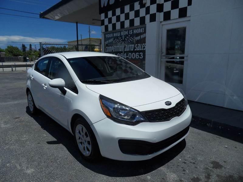 2013 KIA RIO LX 4DR SEDAN 6A white please call competition auto sales at 888-865-0893  have bad