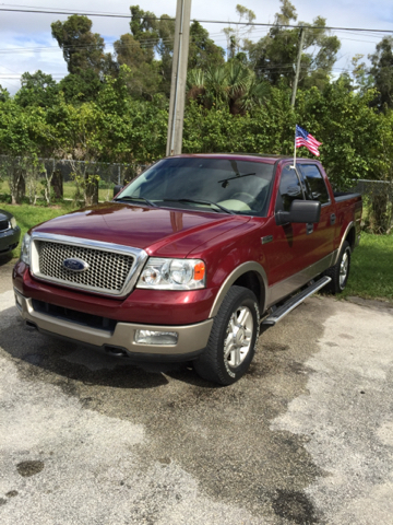 2004 FORD F-150 LARIAT 4DR SUPERCREW 4WD STYLESI garnet red have bad credit have no credit no p