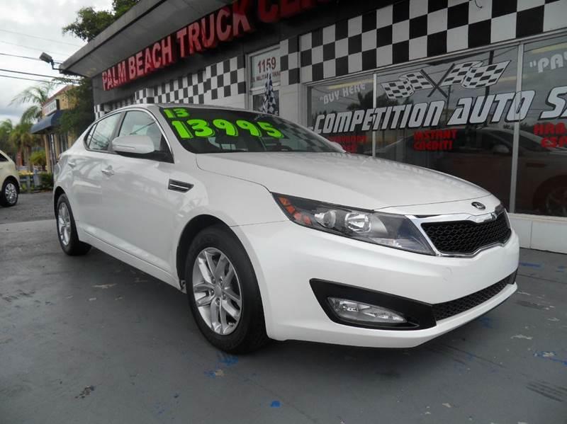 2013 KIA OPTIMA LX 4DR SEDAN white please call competition auto at 888-865-0893  have bad credit