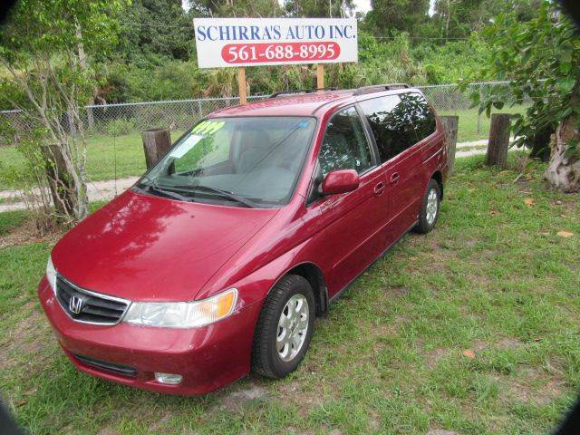2002 HONDA ODYSSEY EX-L 4DR MINI VAN WLEATHER red please call less than 6000 at 888-865-0893