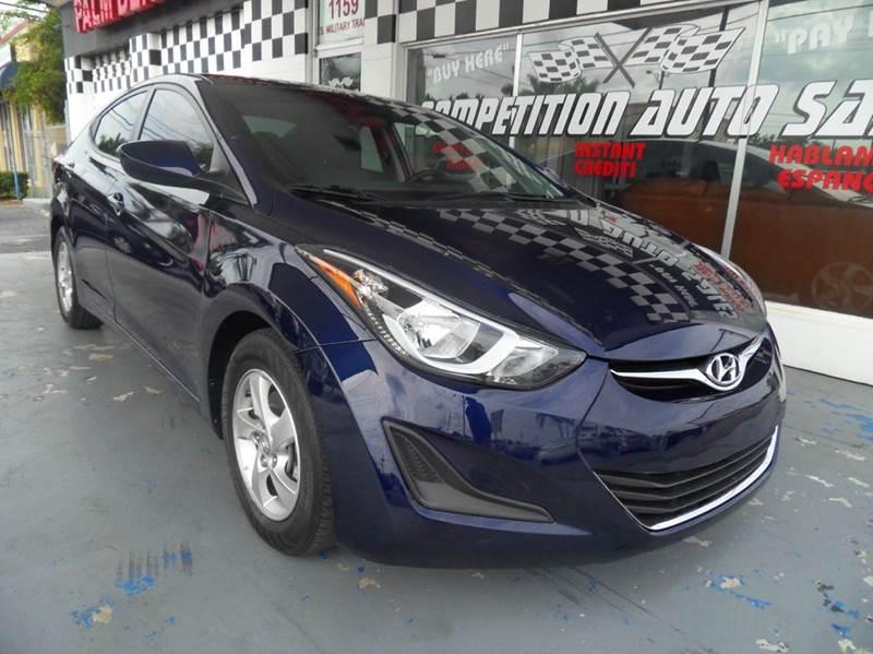2014 HYUNDAI ELANTRA LIMITED 4DR SEDAN 6A blue please call competition auto sales at 888-865-0893