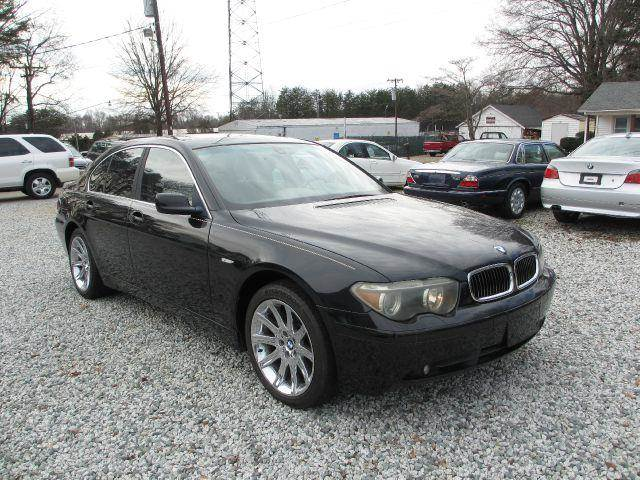 2002 bmw 7 series 745i 4dr sedan in greensboro nc triad. Black Bedroom Furniture Sets. Home Design Ideas