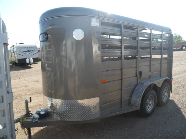 2014 S & H STOCKMAN STOCK TRAILER