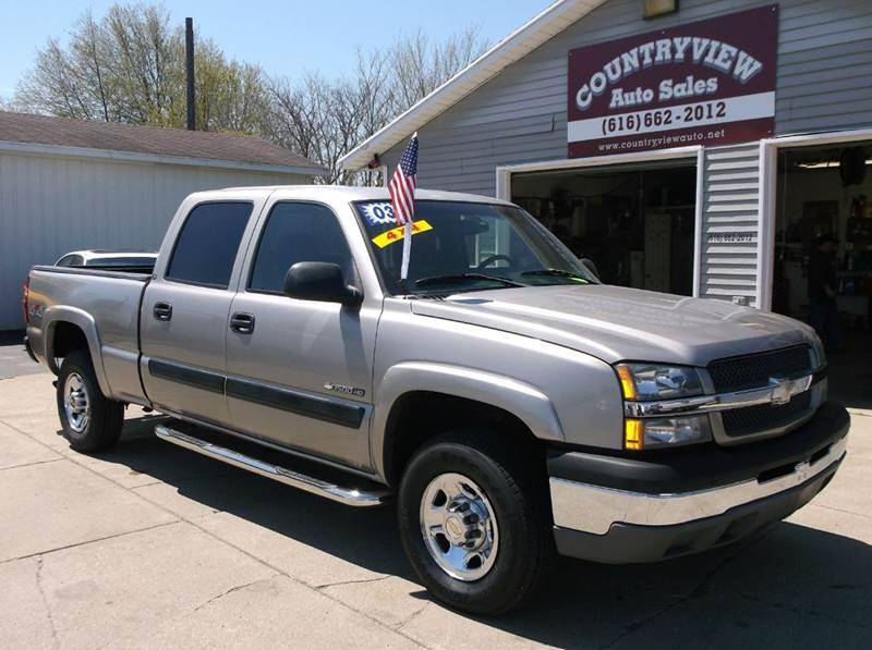 2003 chevrolet silverado 1500hd 4dr crew cab ls 4wd sb in hudsonville mi countryview auto sales. Black Bedroom Furniture Sets. Home Design Ideas