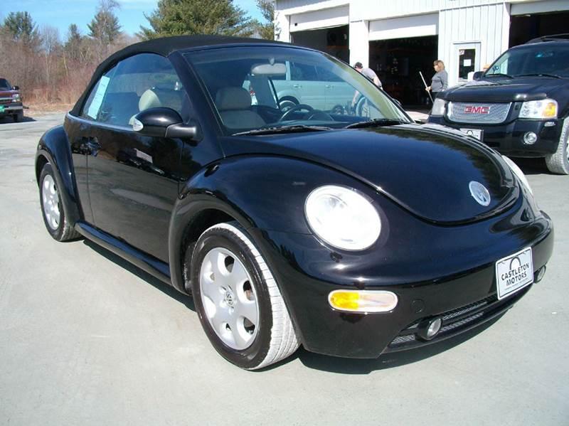 2003 volkswagen new beetle gls 2dr convertible in castleton vt castleton motors. Black Bedroom Furniture Sets. Home Design Ideas