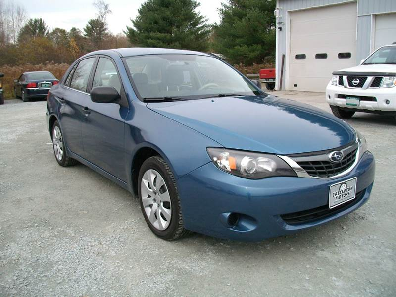 2008 subaru impreza awd 4dr sedan 5m in castleton vt castleton motors. Black Bedroom Furniture Sets. Home Design Ideas