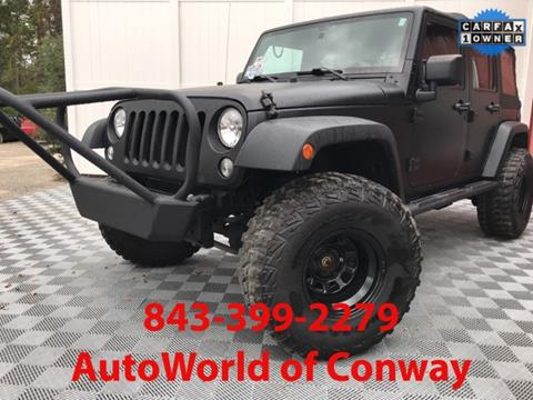 2014 Jeep Wrangler Unlimited for sale in Conway, SC