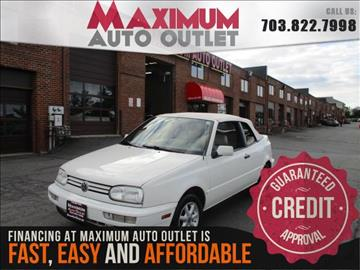 1998 Volkswagen Cabrio for sale in Manassas, VA