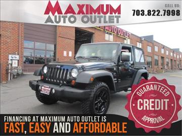 2012 Jeep Wrangler for sale in Manassas, VA