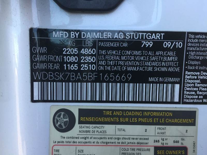 2011 Mercedes-Benz SL-Class SL 550 2dr Convertible - Henderson NV
