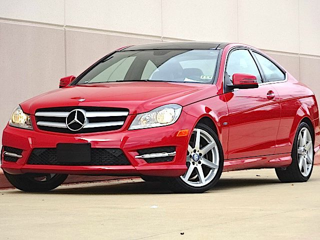 2012 MERCEDES-BENZ C-CLASS C250 2DR COUPE red all electrical and optional equipment on this vehicl