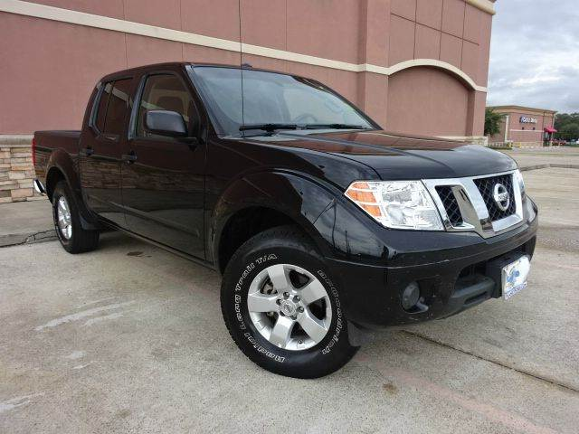 2013 NISSAN FRONTIER SV 4X2 4DR CREW CAB 5 FT SB PIC black all electrical and optional equipment