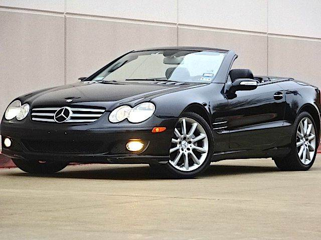 2007 MERCEDES-BENZ SL-CLASS SL550 2DR CONVERTIBLE black all power equipment is functioning properl