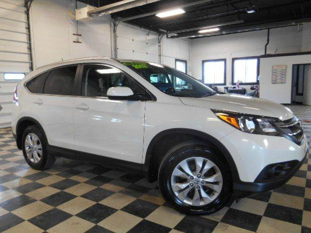 2013 HONDA CR-V EX-L AWD 4DR SUV white clean carfax  one owner  smoke-free interior  mint condi