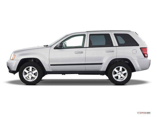 2009 JEEP GRAND CHEROKEE LAREDO 4X4 4DR SUV white clean carfax  smoke free interior  excellent