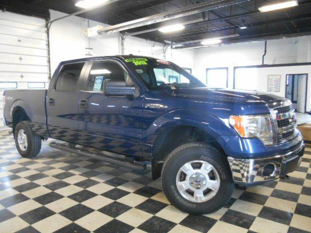 2013 FORD F-150 XLT 4X4 4DR SUPERCREW blue clean carfax  one owner  smoke-free interior  fantas