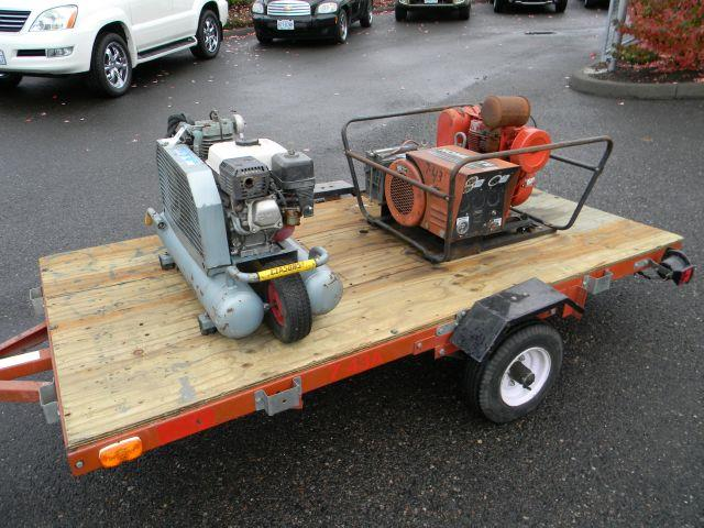 1998 LONG Utility Trailer Generator & Compressor - VANCOUVER WA