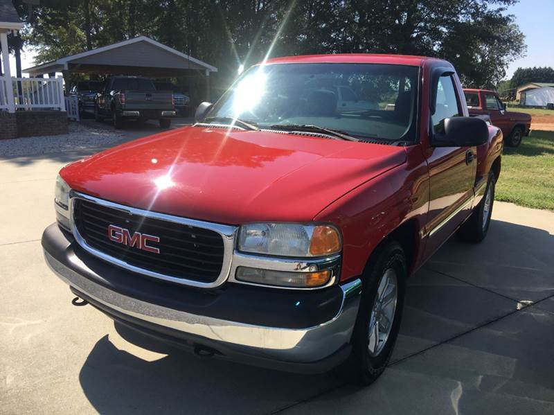 2001 gmc sierra 1500 2dr standard cab sl 2wd sb in anderson sc getsingers used cars. Black Bedroom Furniture Sets. Home Design Ideas