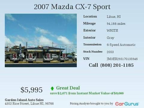 2007 Mazda CX-7 for sale in Lihue, HI