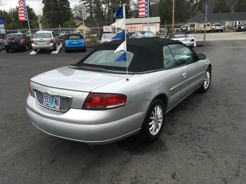 2002 Chrysler Sebring LXi 2dr Convertible - Grants Pass OR