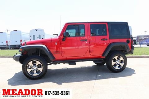 2015 Jeep Wrangler Unlimited for sale in Fort Worth, TX