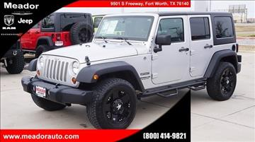 2012 Jeep Wrangler Unlimited for sale in Fort Worth, TX