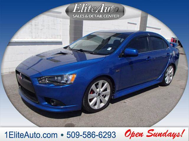 2012 MITSUBISHI LANCER RALLIART AWD 4DR SEDAN blue you dont have to drive all over townwe hav