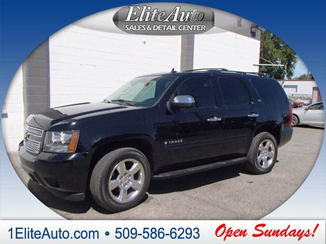2007 CHEVROLET TAHOE LTZ 4DR SUV 4WD black power steeringpower door lockspo