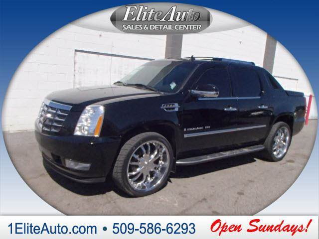 2007 CADILLAC ESCALADE EXT BASE AWD 4DR CREW CAB SB black power steeringpowe